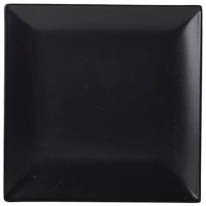 Luna Black Stoneware Square Coupe Plate 9.5inch / 24cm