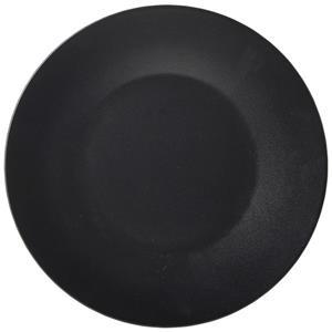 Luna Black Stoneware Wide Rim Plate 9.75inch / 25cm