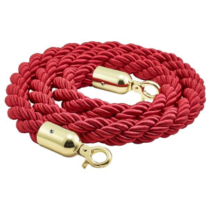 Barrier Rope Red Brass Plated Ends