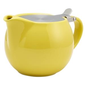 GenWare Porcelain Yellow Teapot with Stainless Steel Lid & Infuser 17.6oz / 500ml