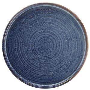 Terra Porcelain Aqua Blue Low Presentation Plate 9.75inch / 25cm