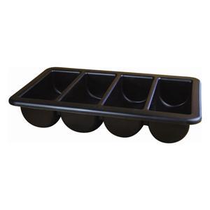 Cutlery Tray 1/1 Black 13inch x 21inch