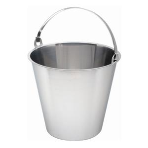 Swedish Stainless Steel Bucket Graduated 12ltr