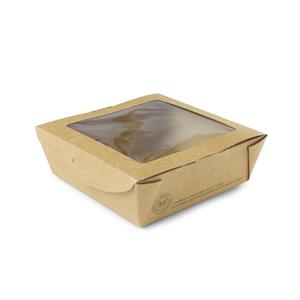 Compostable Medium Kraft Pasta Box with Window