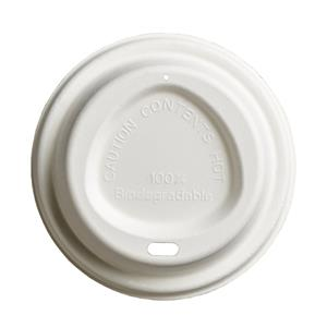Bagasse Compostable Hot Drink Sip Thru Lids to Fit 80mm Cups