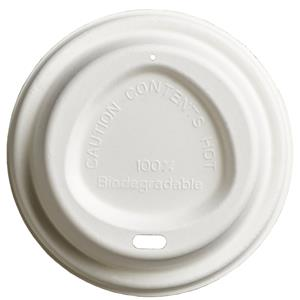 Bagasse Compostable Hot Drink Sip Thru Lids to Fit 90mm Cups