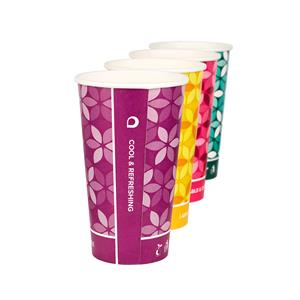 Cool & Refreshing Mixed Colour PLA Cups 16oz / 450ml