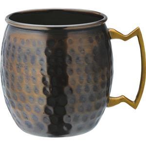 Aged Copper Hammered Round Mug 19oz / 540ml