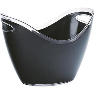 Small Champagne Bucket Black 10.5inch / 27cm