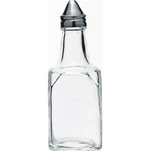 Square Vinegar Bottle with Stainless Steel Top
