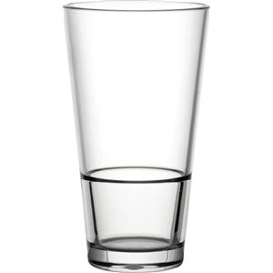 Diamond Plastic Polycarbonate Venture Stacking Glasses 18.25oz / 520ml
