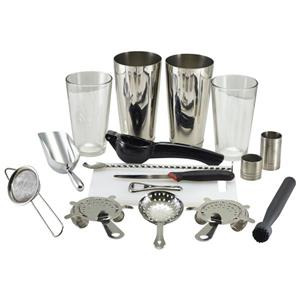 Genware 17 Piece Cocktail Bar Kit Bronze
