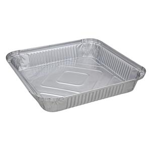 Square Foil Containers Shallow 9inch