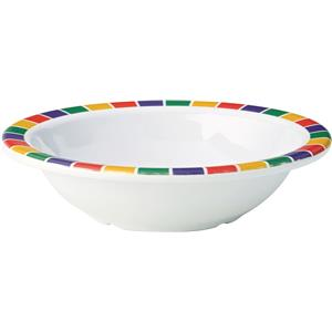 Kingline Caribbean Block Rimmed Fruit Bowl 6inch / 15cm