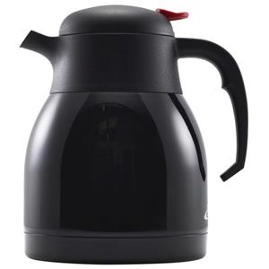 Black Stainless Steel Vacuum Push Button Jug 1.2ltr