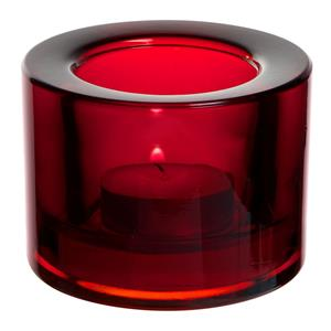 Chunky Tealight Holder Red