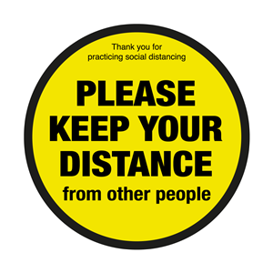 Please Keep Your Distance From Other People Floor Graphic 40cm