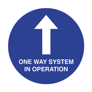 One Way System in Operation Floor Graphic 40cm