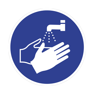 Wash Your Hands Floor Graphic 40cm
