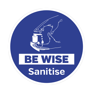 Be Wise Sanitise Floor Graphic 40cm