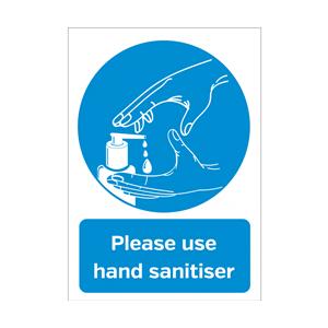Please Use Hand Sanitiser A5 Vinyl Sticker
