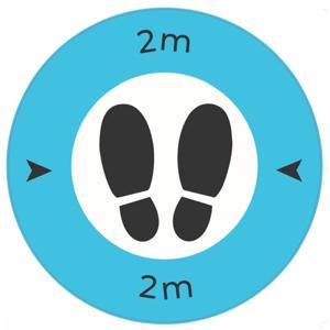 Safe Distance 2 Metre Floor Graphic