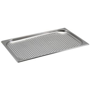 Perforated Stainless Steel Gastronorm Pan 1/1 - 2cm Deep