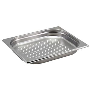 Perforated Stainless Steel Gastronorm Pan 1/2 - 4cm Deep