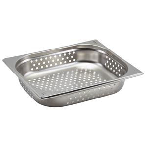 Perforated Stainless Steel Gastronorm Pan 1/2 - 6.5cm Deep