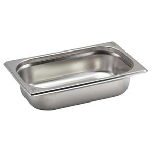 Stainless Steel Gastronorm Pan 1/4 - 6.5cm Deep