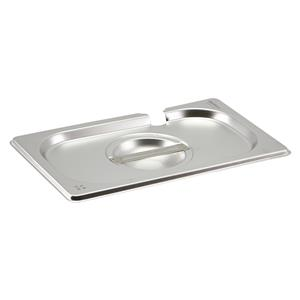 Stainless Steel Gastronorm Pan Notched Lid 1/4