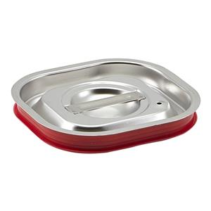Stainless Steel Gastronorm Sealing Pan Lid 1/6