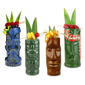 Ceramic Beach Tiki Party Pack