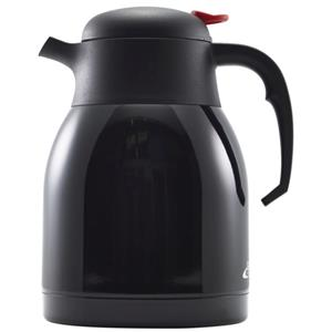 Black Stainless Steel Vacuum Push Button Jug 1.5ltr