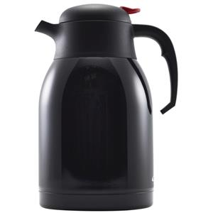 Black Stainless Steel Vacuum Push Button Jug 2ltr