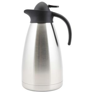 Genware Stainless Steel Contemporary Vacuum Jug 1.5ltr