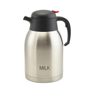 Milk Inscribed Stainless Steel Vacuum Jug 2ltr