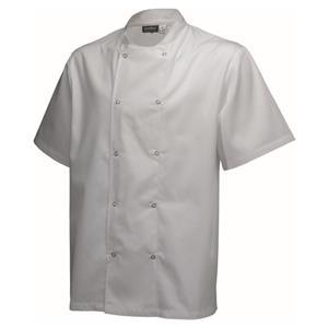 Basic Stud Jacket Short Sleeve White M