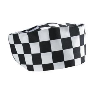 Big Black & White Check Beanie