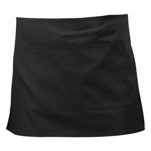 Black Short Apron 70 x 37cm
