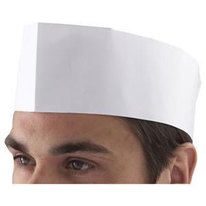 Chef''s Disposable Paper Forage Hat (100 Pcs)