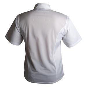 Coolback Press Stud Jacket Short Sleeve White XS