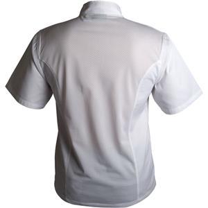 Coolback Press Stud Jacket Short Sleeve White XXL