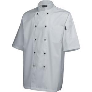 Superior Jacket Short Sleeve White XXL Size