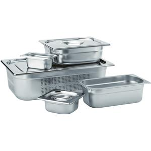 Stainless Steel Perforated GN 1/1 Pan 6.5cm Deep