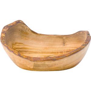Rustic Olive Wood Oval Bowl 9.75 x 6.75inch / 24.5 x 17cm