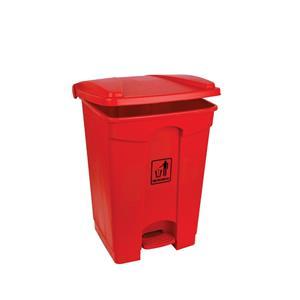 Polypropylene pedal Bin Red 45ltr