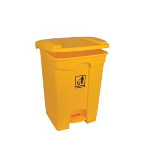 Polypropylene pedal Bin Yellow 45ltr