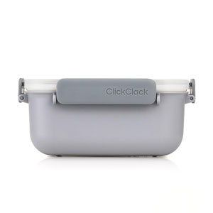 ClickClack Daily Food Storage Container Grey 0.9ltr