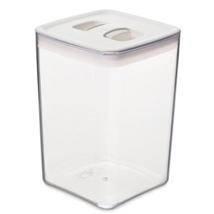ClickClack Pantry Storage Cube Container White 4.3ltr